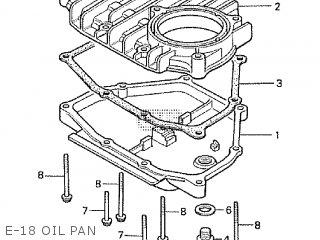 Honda Cx500tc 1982 c E-18 Oil Pan