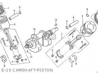 Honda Cx500tc 1982 c E-19 Camshaft-piston
