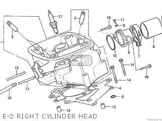 Honda Cx500tc 1982 c E-2 Right Cylinder Head