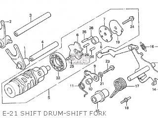 Honda Cx500tc 1982 c E-21 Shift Drum-shift Fork