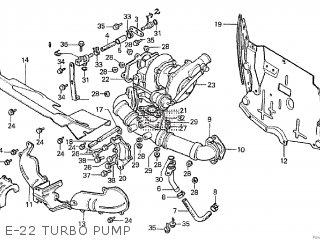 Honda Cx500tc 1982 c E-22 Turbo Pump