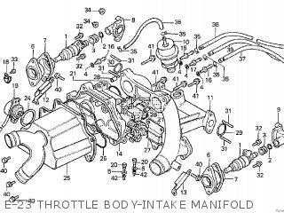 Honda Cx500tc 1982 c E-23 Throttle Body-intake Manifold