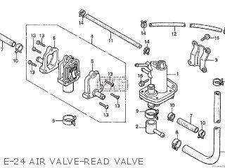 Honda Cx500tc 1982 c E-24 Air Valve-read Valve