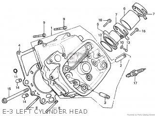 Honda Cx500tc 1982 c E-3 Left Cylinder Head