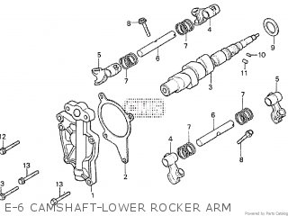 Honda Cx500tc 1982 c E-6 Camshaft-lower Rocker Arm