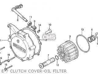 Honda Cx500tc 1982 c E-7 Clutch Cover-oil Filter