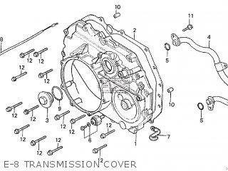 Honda Cx500tc 1982 c E-8 Transmission Cover