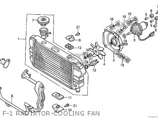 Honda Cx500tc 1982 c F-1 Radiator-cooling Fan