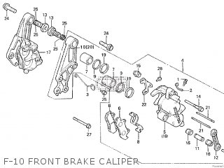 Honda Cx500tc 1982 c F-10 Front Brake Caliper