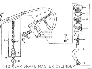Honda Cx500tc 1982 c F-12 Rear Brake Master Cylinder