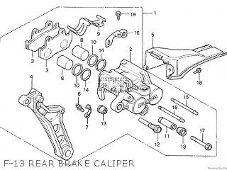 Honda Cx500tc 1982 c F-13 Rear Brake Caliper