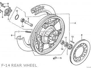 Honda Cx500tc 1982 c F-14 Rear Wheel