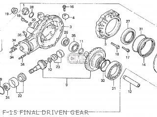 Honda Cx500tc 1982 c F-15 Final Driven Gear