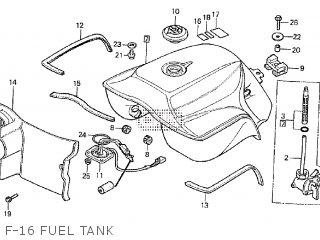 Honda Cx500tc 1982 c F-16 Fuel Tank