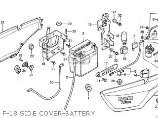 Honda Cx500tc 1982 c F-18 Side Cover-battery