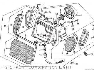 Honda Cx500tc 1982 c F-2-1 Front Combination Light