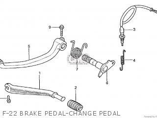 Honda Cx500tc 1982 c F-22 Brake Pedal-change Pedal