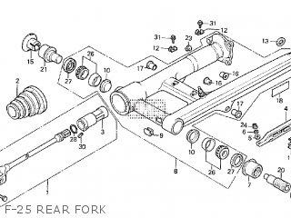 Honda Cx500tc 1982 c F-25 Rear Fork