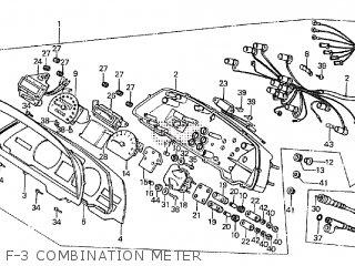 Honda Cx500tc 1982 c F-3 Combination Meter