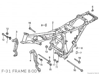 Honda Cx500tc 1982 c F-31 Frame Body