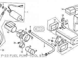 Honda Cx500tc 1982 c F-33 Fuel Pump-tool Box