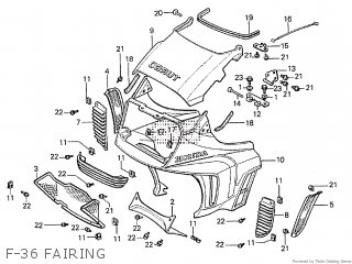 Honda Cx500tc 1982 c F-36 Fairing