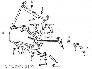 Honda Cx500tc 1982 c F-37 Cowl Stay