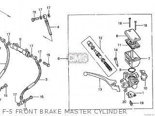 Honda Cx500tc 1982 c F-5 Front Brake Master Cylinder