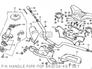 Honda Cx500tc 1982 c F-6 Handle Pipe-top Bridge-key Set