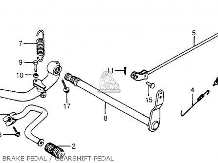 Honda Cx650c Custom 1983 d Usa Brake Pedal   Gearshift Pedal
