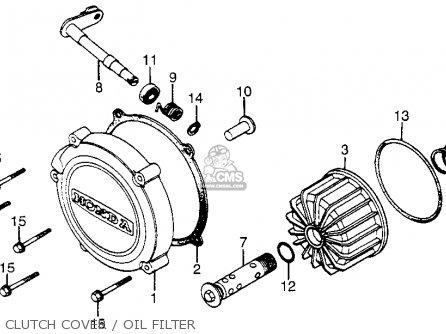 Honda Cx650c Custom 1983 d Usa Clutch Cover   Oil Filter