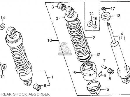 Honda Cx650c Custom 1983 d Usa Rear Shock Absorber