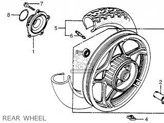 Honda Cx650c Custom 1983 d Usa Rear Wheel