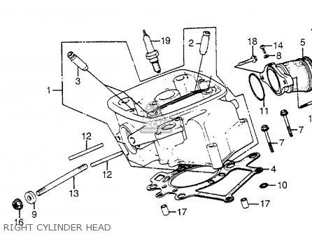 Honda Cx650c Custom 1983 d Usa Right Cylinder Head