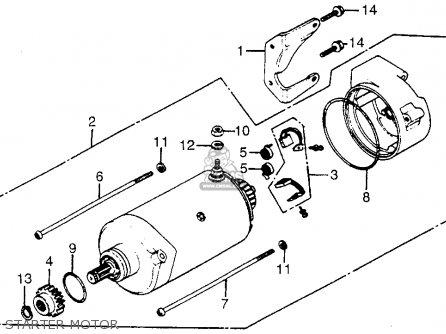 Honda Cx650c Custom 1983 d Usa Starter Motor