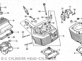 Honda Cy80 1979 z France E-1 Cylinder Head-cylinder