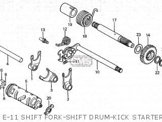 Honda Cy80 1979 z France E-11 Shift Fork-shift Drum-kick Starter Spindle