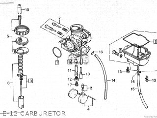 Honda Cy80 1979 z France E-12 Carburetor