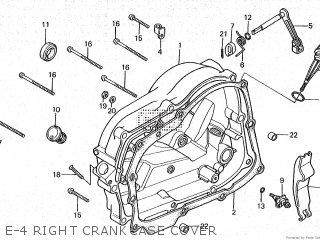 Honda Cy80 1979 z France E-4 Right Crankcase Cover