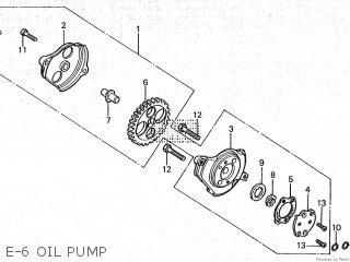 Honda Cy80 1979 z France E-6 Oil Pump