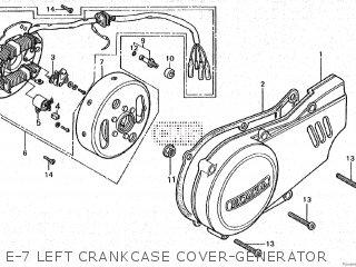 Honda Cy80 1979 z France E-7 Left Crankcase Cover-generator