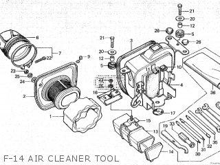 Honda Cy80 1979 z France F-14 Air Cleaner Tool