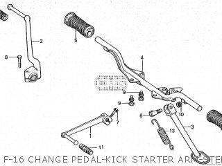 Honda Cy80 1979 z France F-16 Change Pedal-kick Starter Arm-step-stand