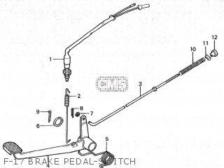 Honda Cy80 1979 z France F-17 Brake Pedal-switch