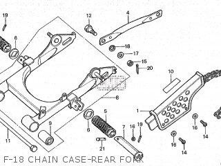 Honda Cy80 1979 z France F-18 Chain Case-rear Fork