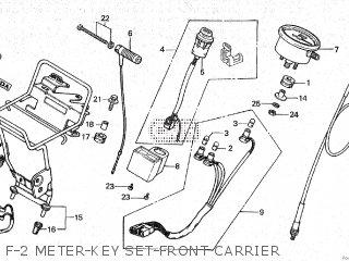 Honda Cy80 1979 z France F-2 Meter-key Set-front Carrier
