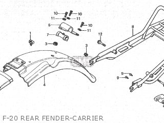 Honda Cy80 1979 z France F-20 Rear Fender-carrier