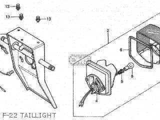 Honda Cy80 1979 z France F-22 Taillight