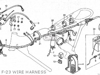 Honda Cy80 1979 z France F-23 Wire Harness
