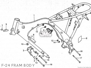 Honda Cy80 1979 z France F-24 Fram Body